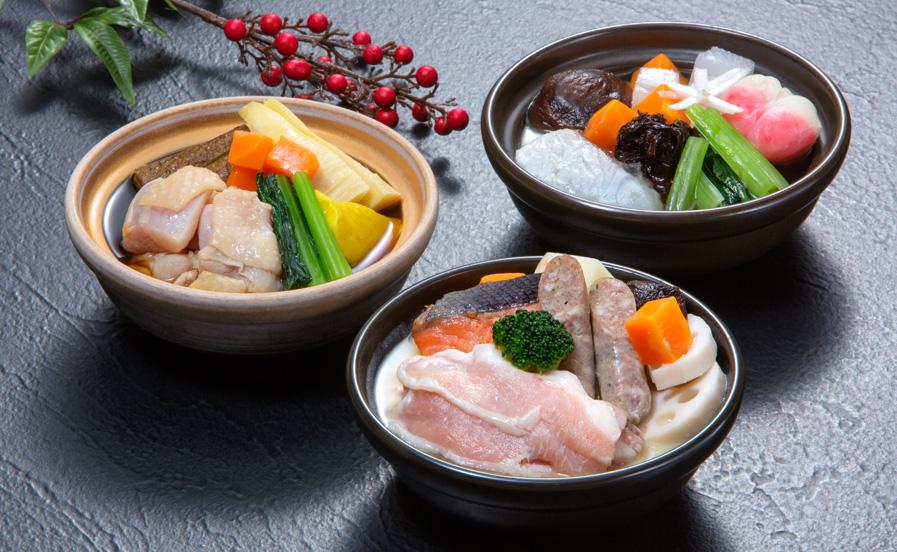 皆美個食鍋セット(松江吟醸鍋・石見へか焼鍋・出雲縁起鍋)